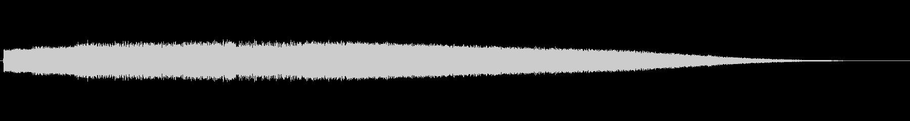 レーザービームの様な音色のサウンドロゴの未再生の波形