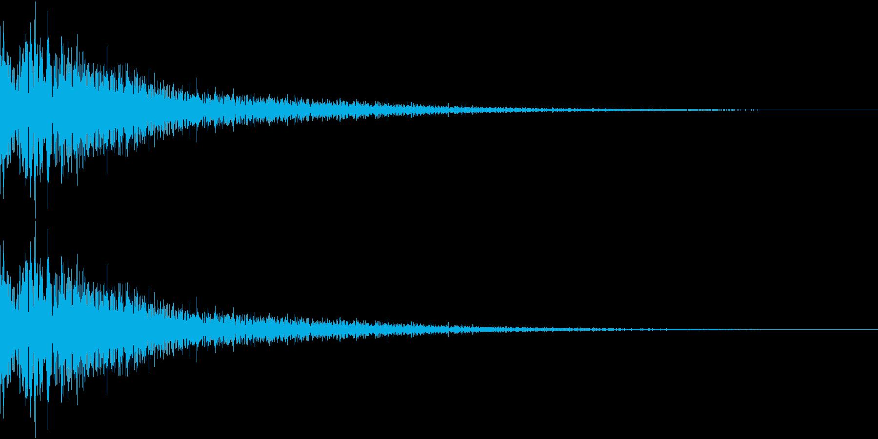 DTM Snare 6 オリジナル音源の再生済みの波形