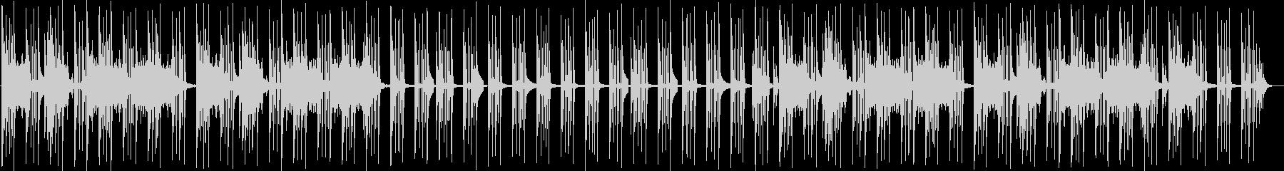 気だるいイメージの曲の未再生の波形