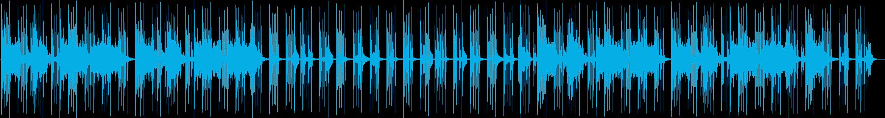 気だるいイメージの曲の再生済みの波形