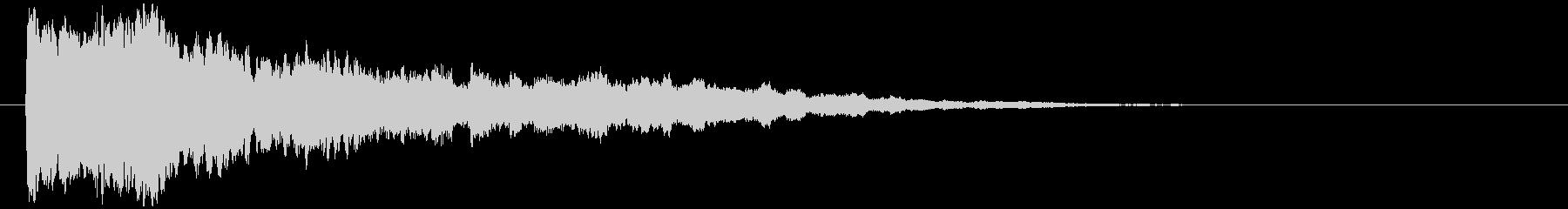 神秘的で透明感のあるインパクト音2の未再生の波形