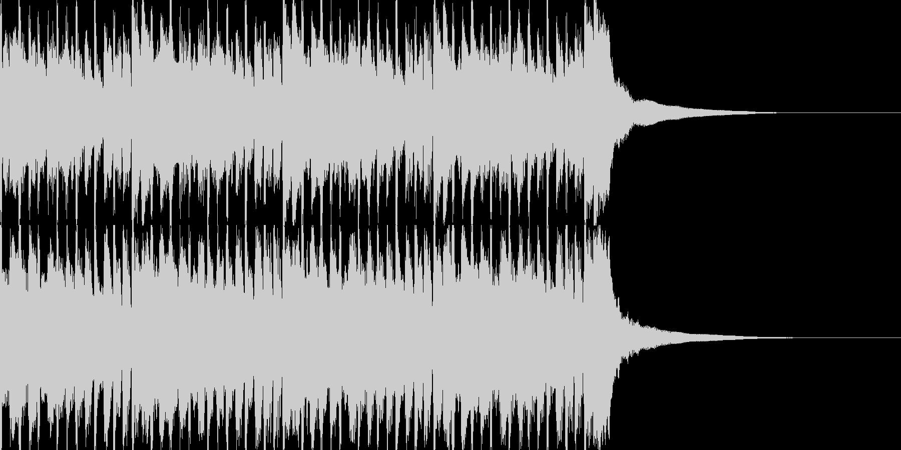 【爽やか】ギターとピアノ疾走感、企業VPの未再生の波形