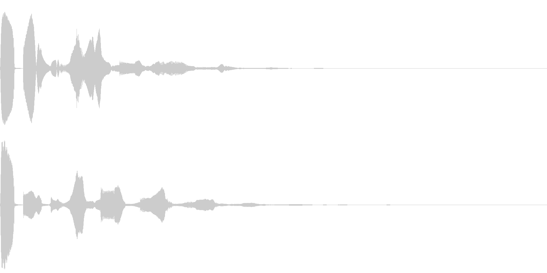 決定/クリック/選択音/UI(ピコンッ)の未再生の波形