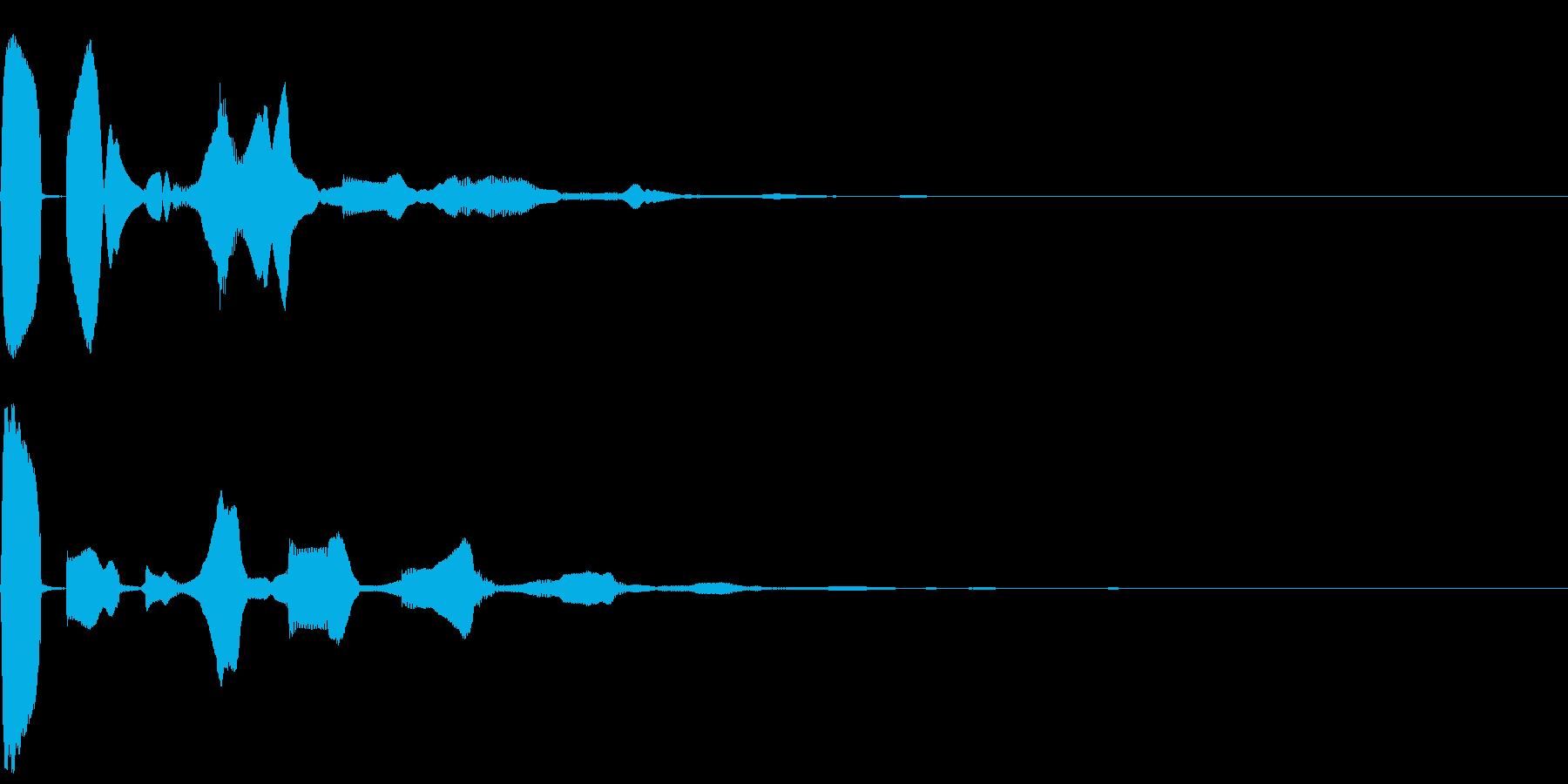 決定/クリック/選択音/UI(ピコンッ)の再生済みの波形