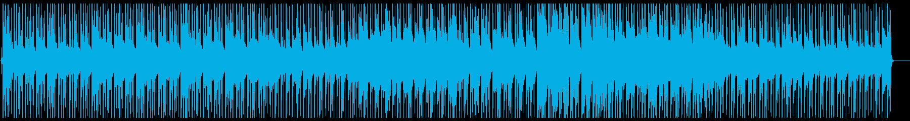 ピアノとギター・ローファイ・チルビートの再生済みの波形