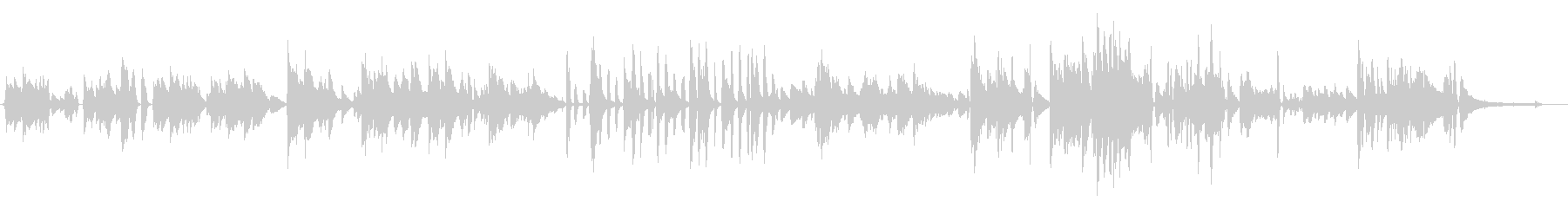 エンディングに合う優しいピアノ曲の未再生の波形