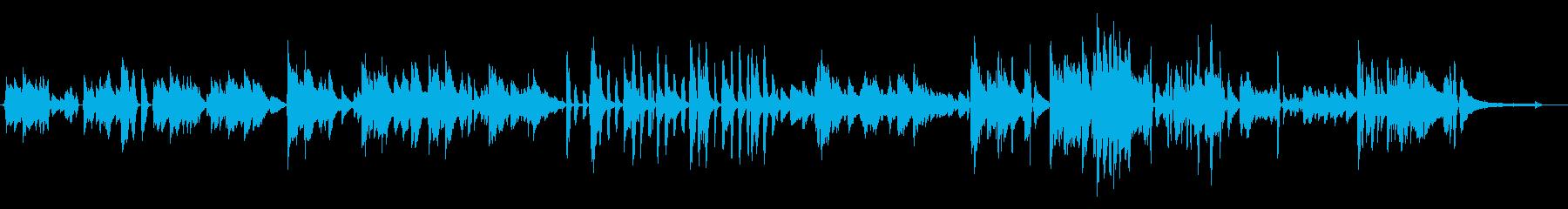 エンディングに合う優しいピアノ曲の再生済みの波形