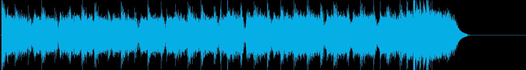 邦ロック風のジングルの再生済みの波形