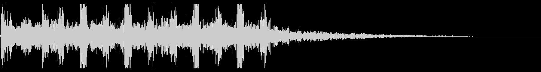 機械 起動音の未再生の波形