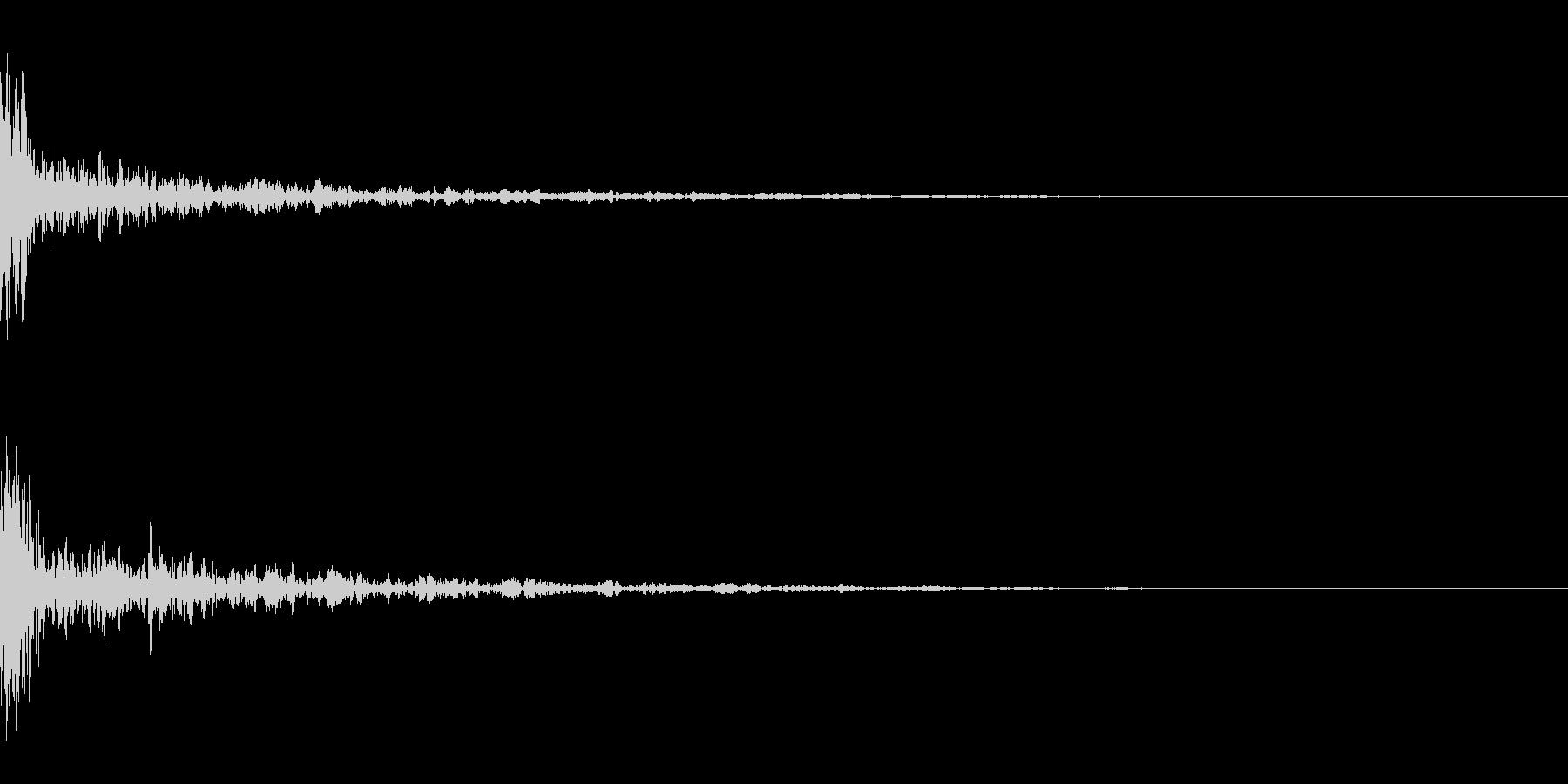 ドーン-23-1(インパクト音)の未再生の波形