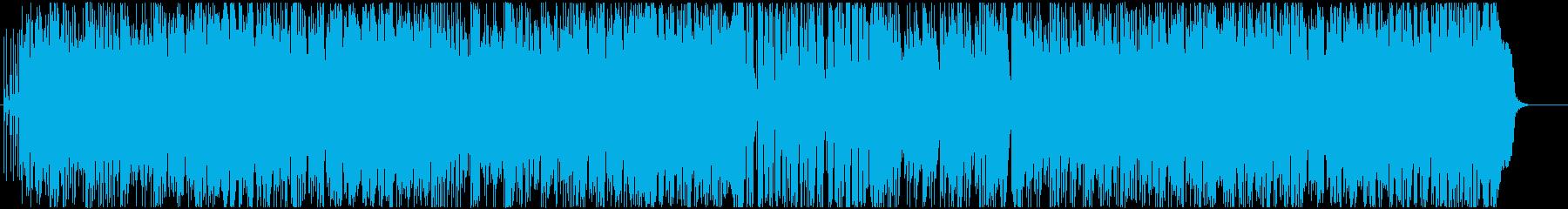 チェロがメロディを奏でるタンゴ風楽曲の再生済みの波形