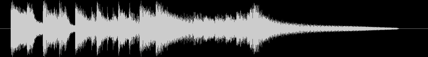 スラップが印象的なトリオ編成のジングルの未再生の波形