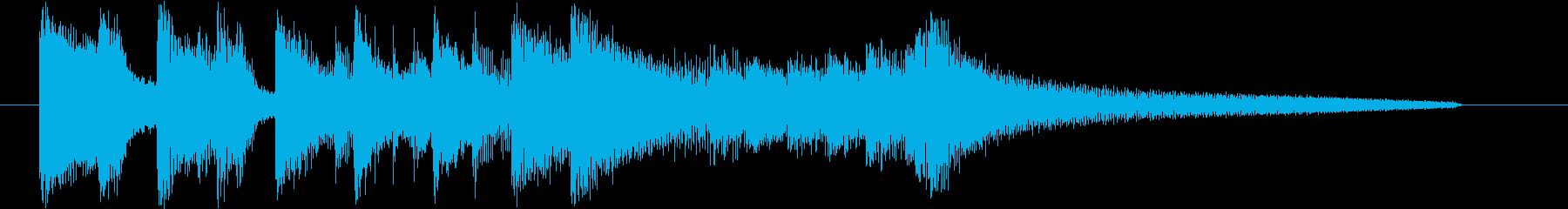 スラップが印象的なトリオ編成のジングルの再生済みの波形