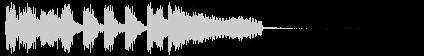 オシャレなラッパのアイキャッチの未再生の波形