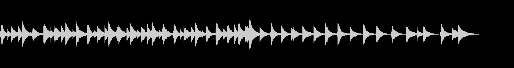 和風メロディのオルゴールの未再生の波形