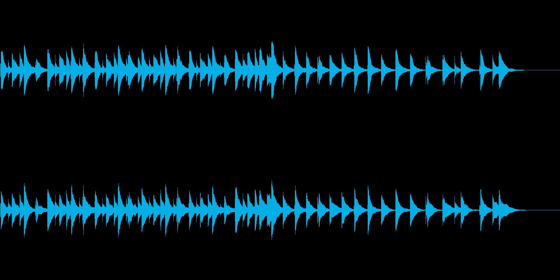 和風メロディのオルゴールの再生済みの波形
