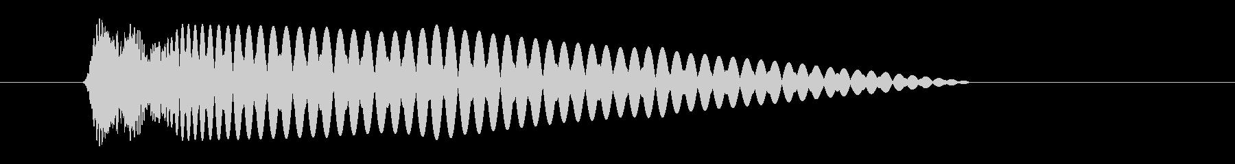 レーザー 光線 ボンッの未再生の波形
