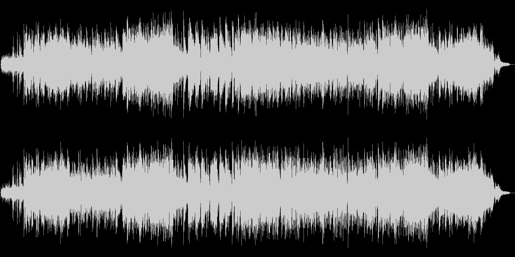アコーステックギターの音がのどかな曲の未再生の波形