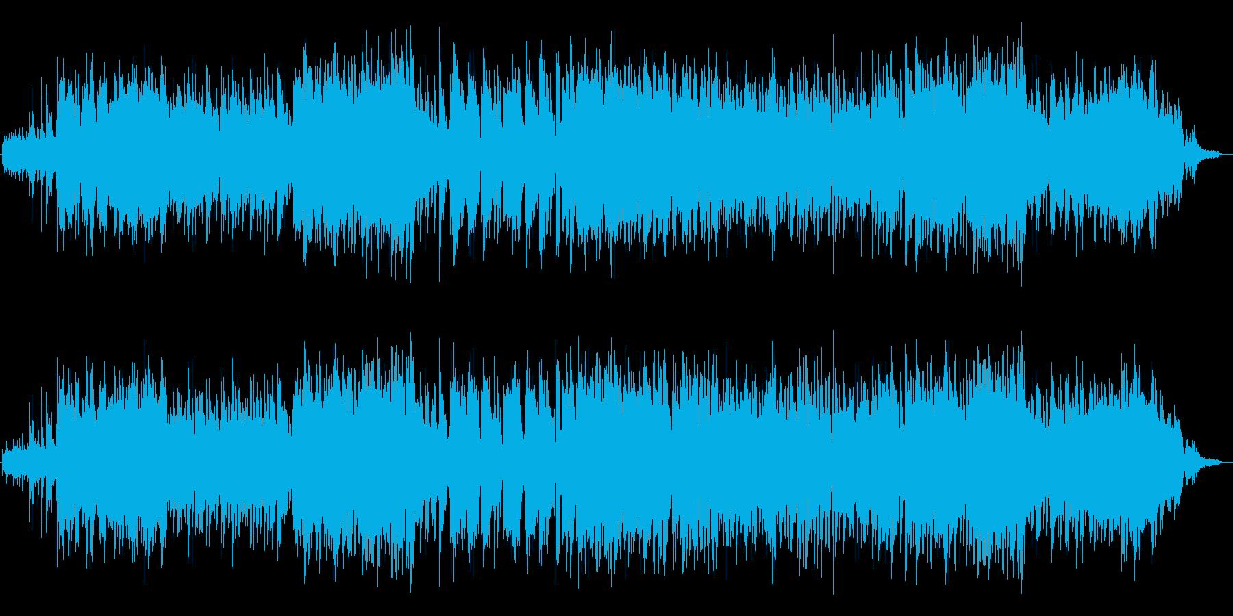 アコーステックギターの音がのどかな曲の再生済みの波形