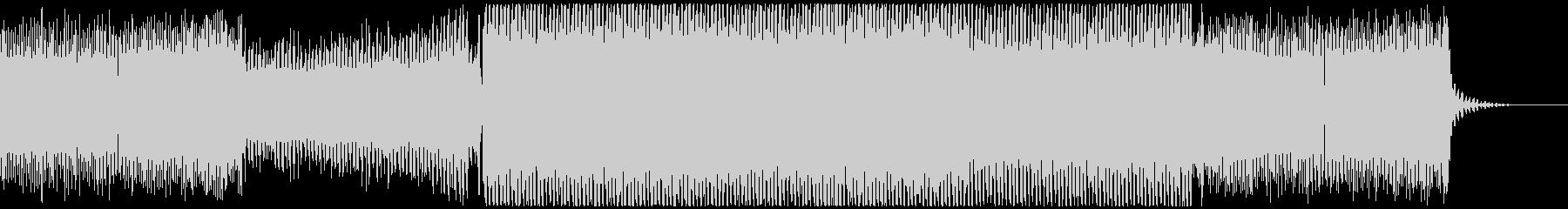 浮遊感のあるサイバートランス風BGMの未再生の波形
