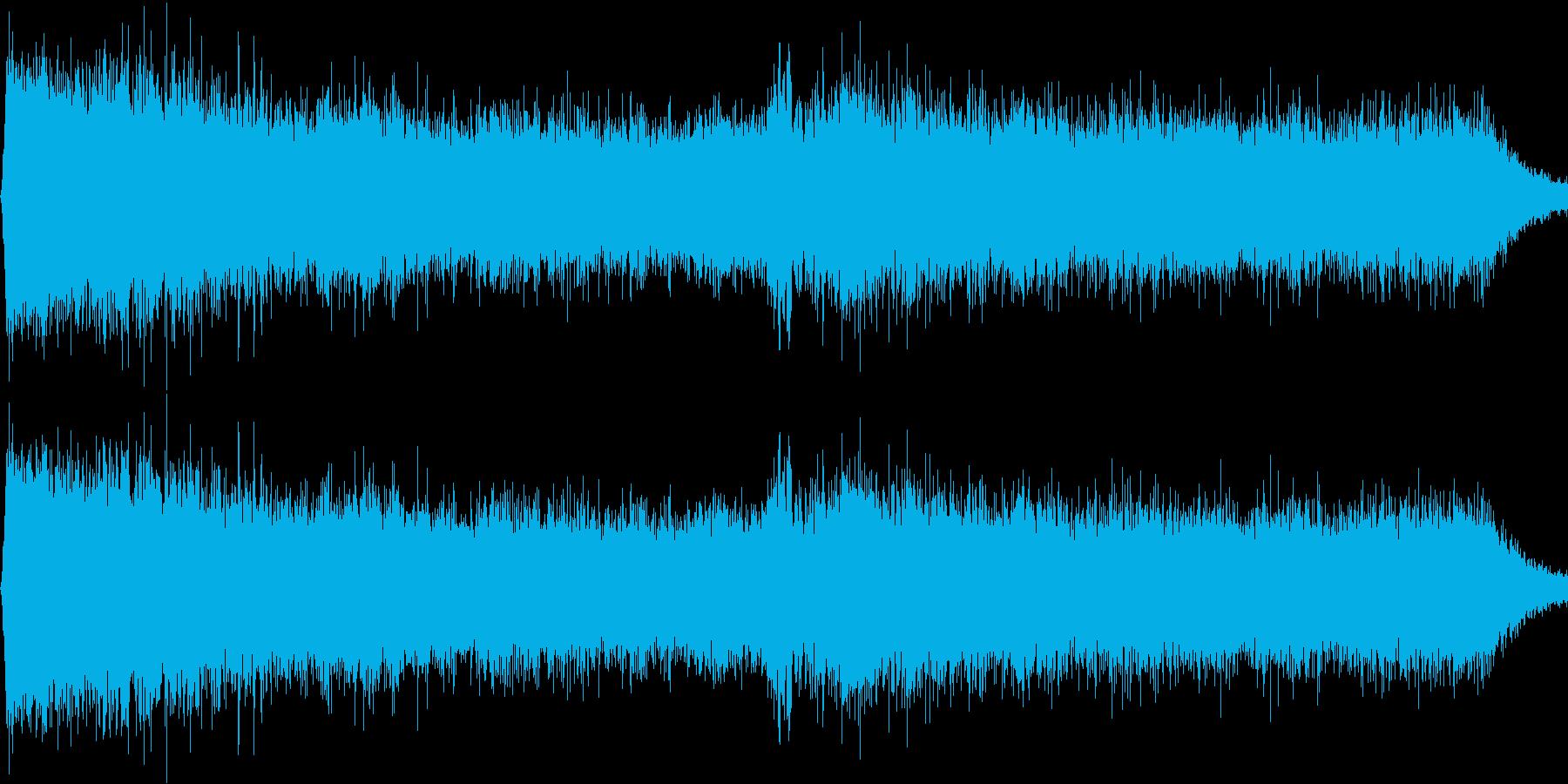 雨が降ってるような音の再生済みの波形