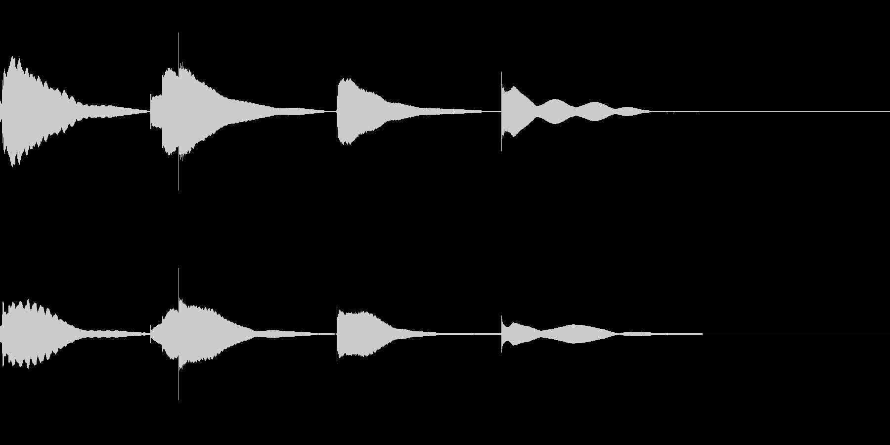 ジングル用オルゴール楽曲07-2の未再生の波形