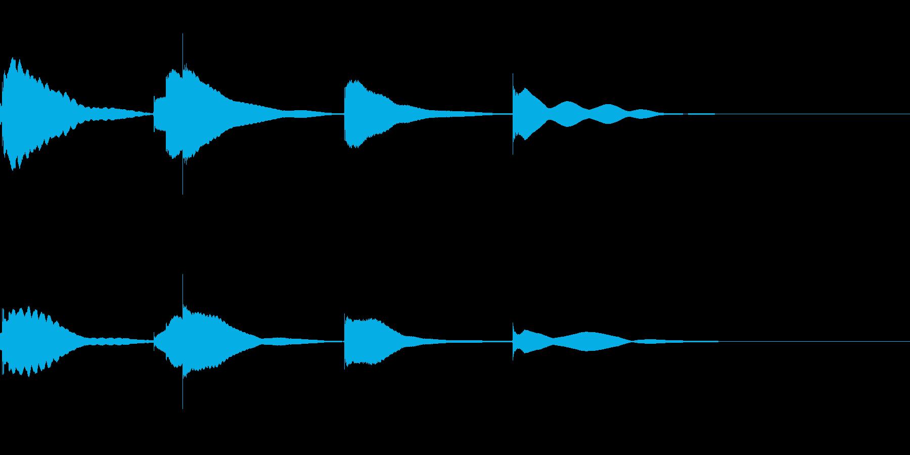 ジングル用オルゴール楽曲07-2の再生済みの波形