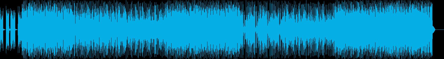 軽快な、明るい感じのポップスインストの再生済みの波形