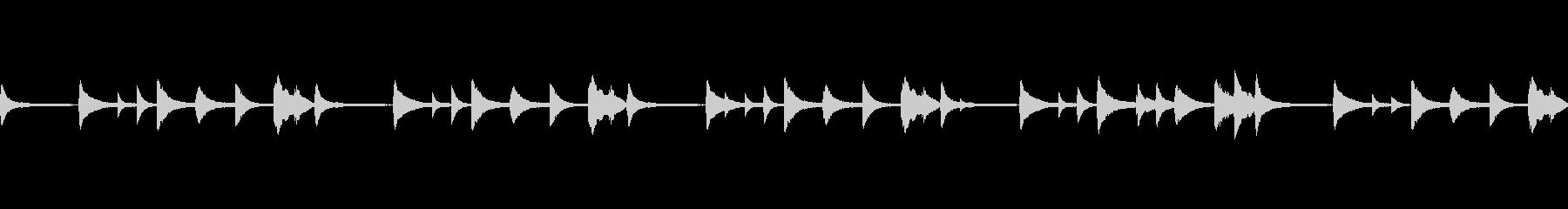 感傷的、切なさを連想させるピアノBGMの未再生の波形