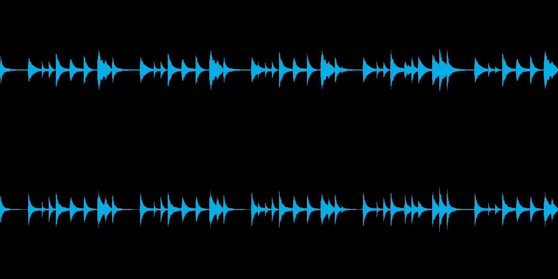 感傷的、切なさを連想させるピアノBGMの再生済みの波形