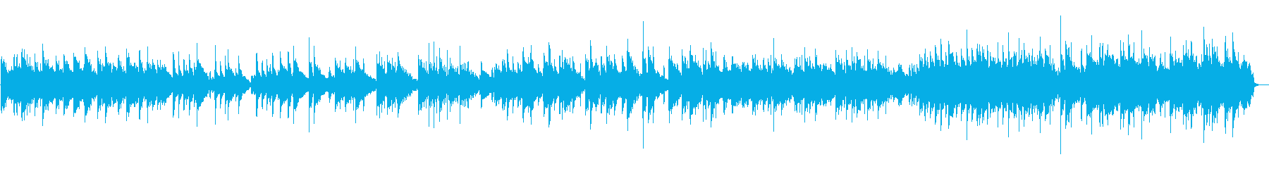 ほのぼのと穏やかな懐かしいアコギ生演奏の再生済みの波形