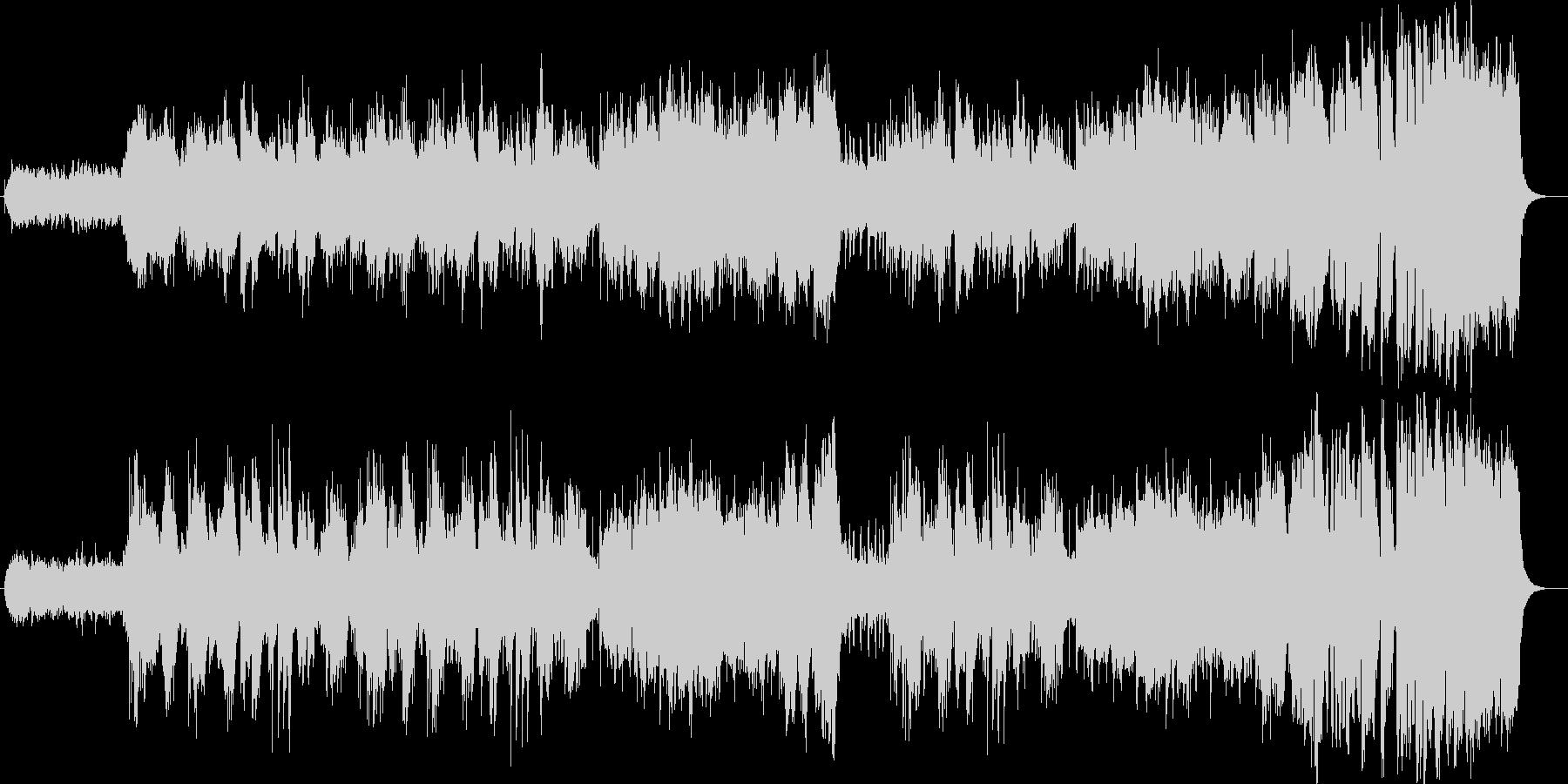 美しく壮大なシンセサイザーサウンドの未再生の波形