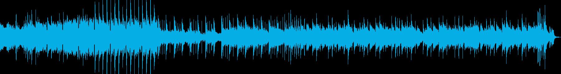 流れるようなシンセのフュージョンの再生済みの波形