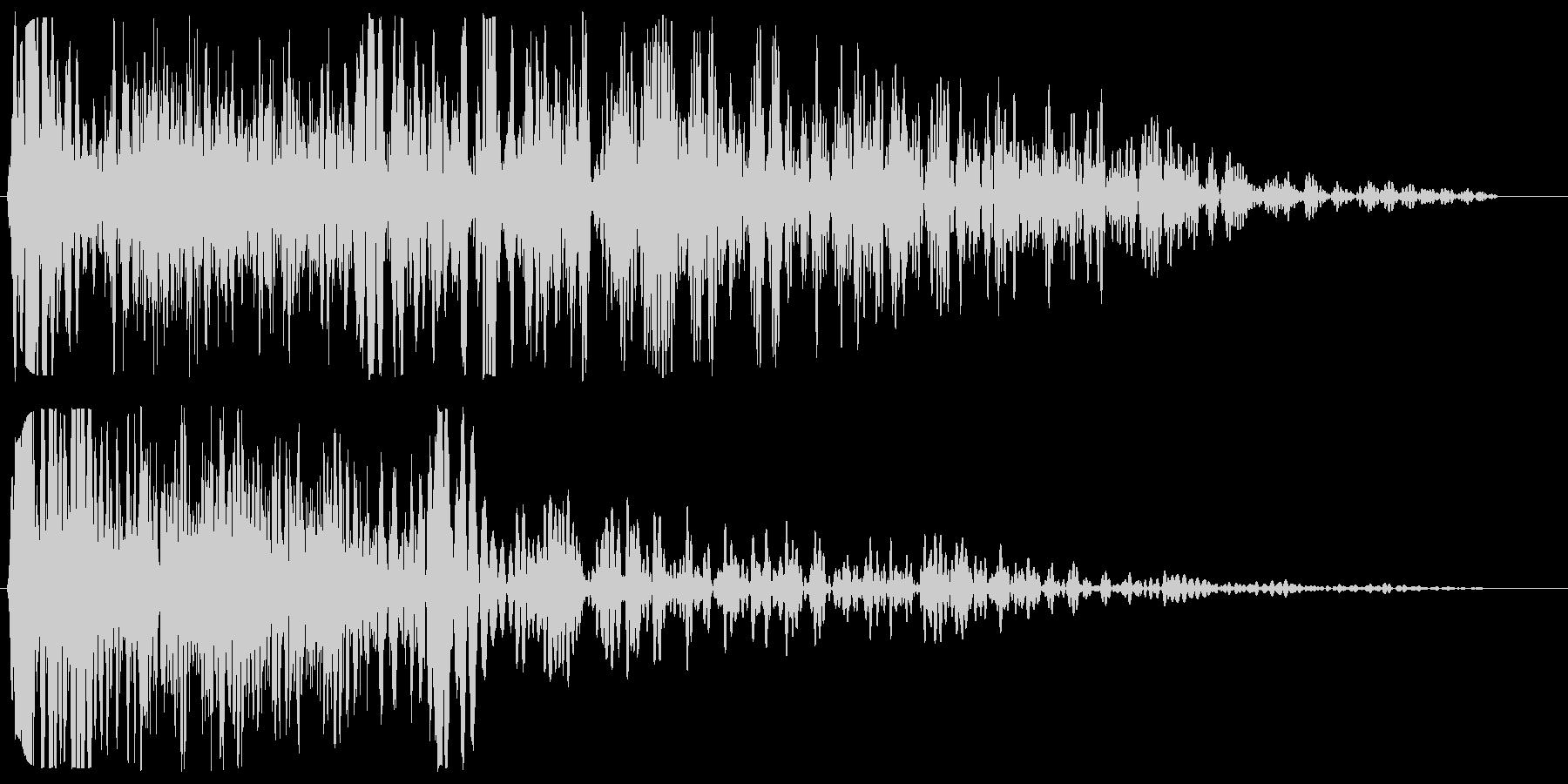 ブシューン(通過・落下音)の未再生の波形