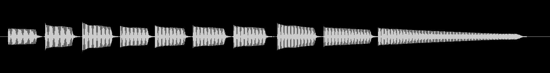 エレキギター4弦チューニング2の未再生の波形