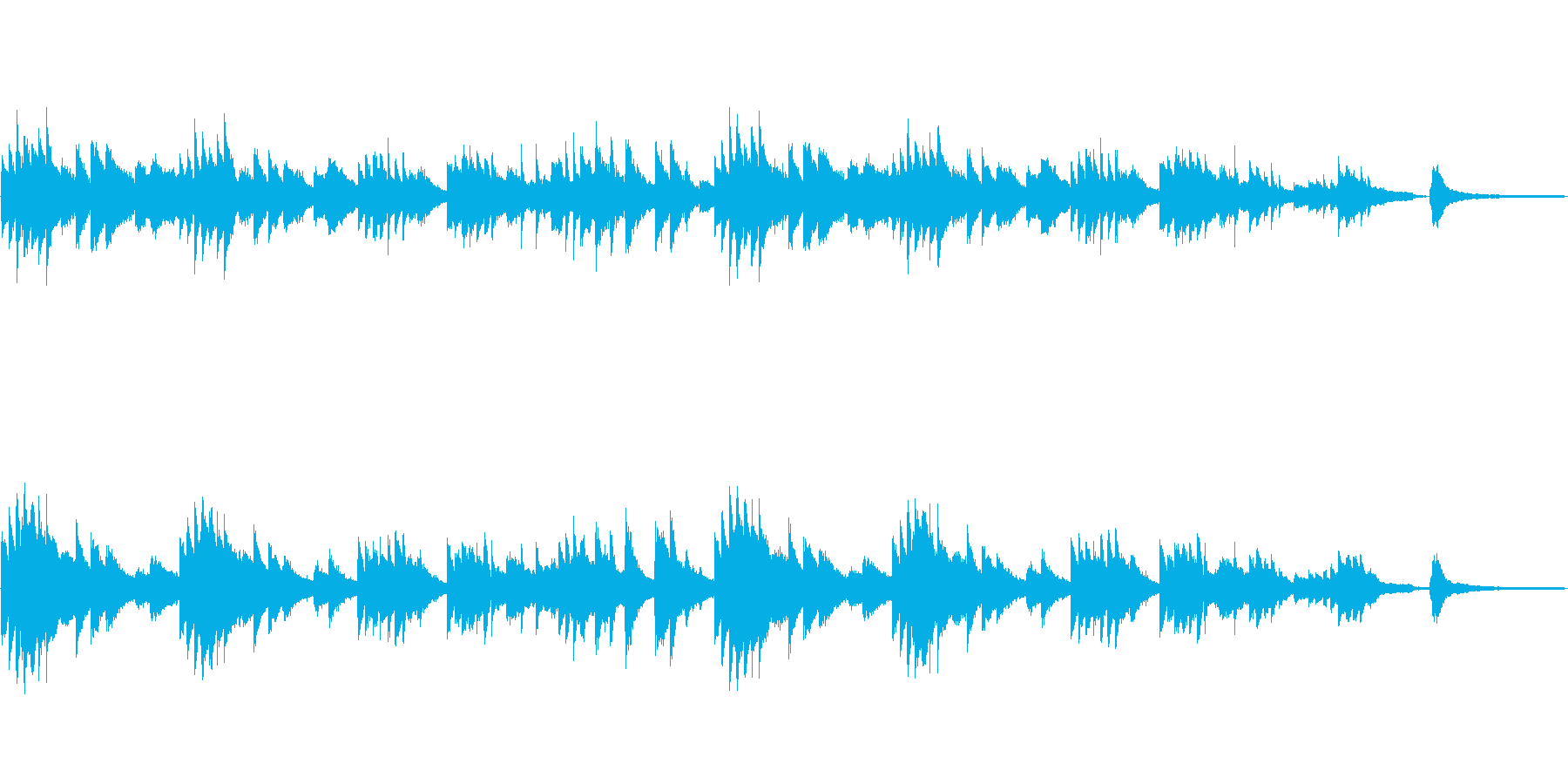せつない 美しい ピアノのワルツの再生済みの波形