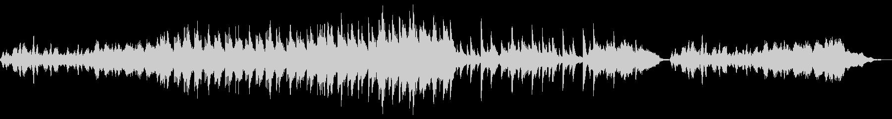 薄暗い雰囲気のBGMの未再生の波形