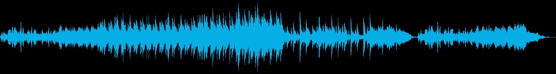 薄暗い雰囲気のBGMの再生済みの波形