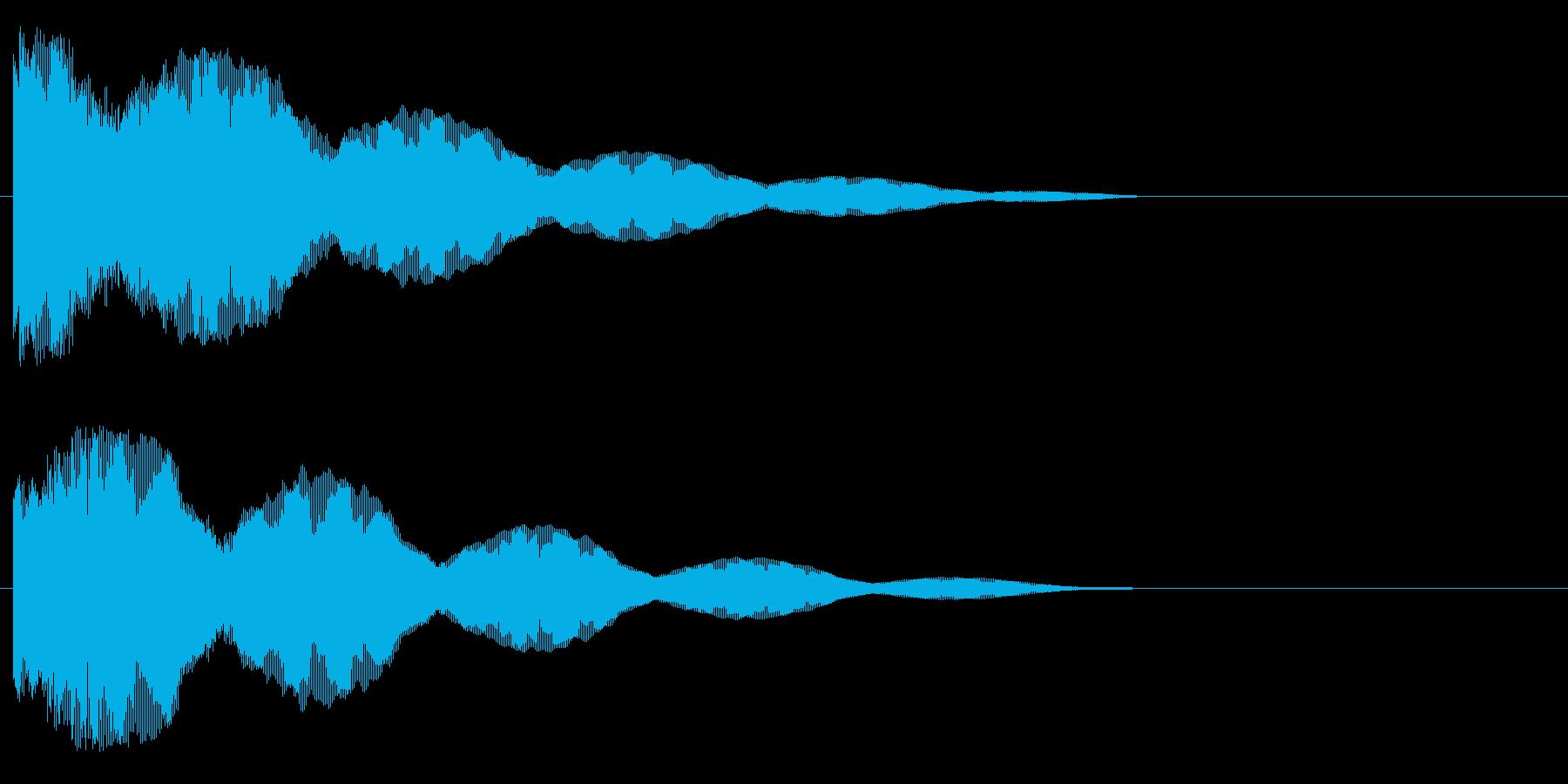 ポゥィ~ン~の再生済みの波形