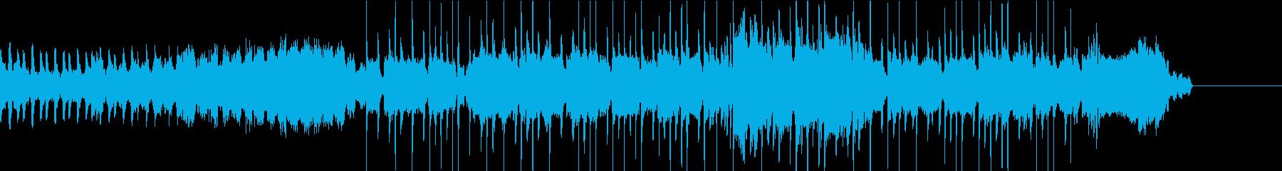 ロックとEDMのトランスの再生済みの波形
