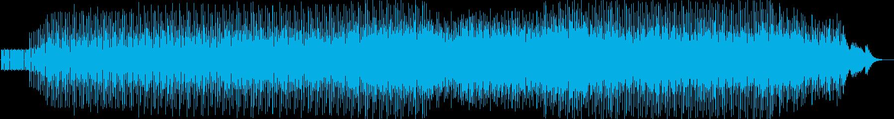 早いシャッフルの未来的ミニマルテクノの再生済みの波形