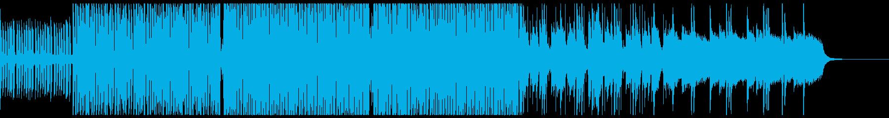 暖かい雰囲気のファンクの再生済みの波形