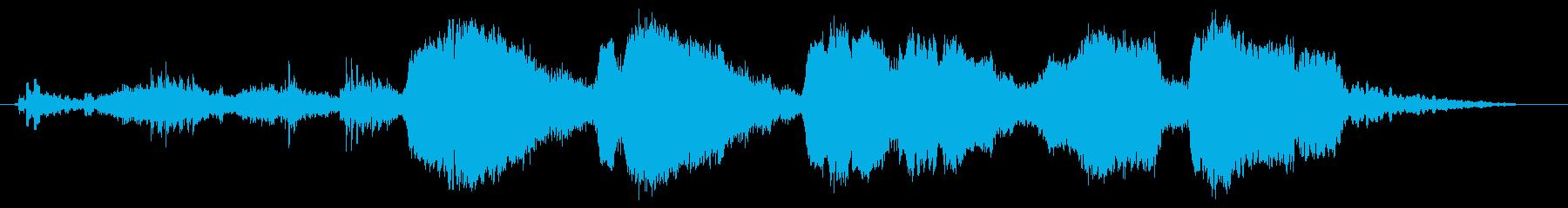 ダークでシリアスなシーン その3の再生済みの波形