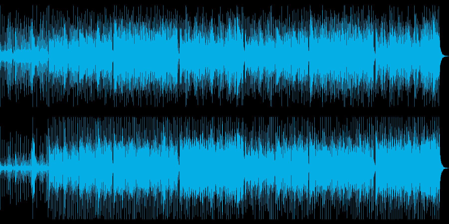 お祭り感のあるロックの再生済みの波形