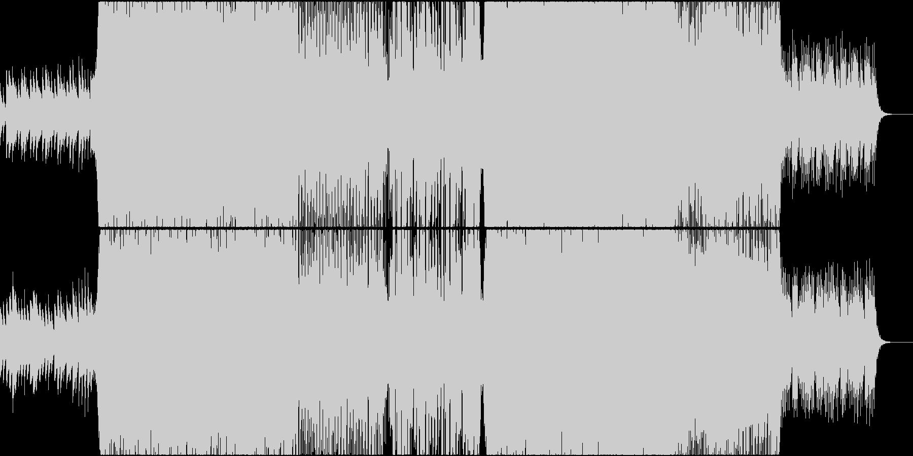 和風のポップなハウス曲の未再生の波形