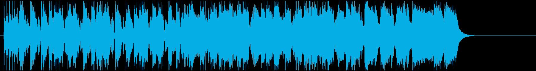 ファンキーで短いギター曲の再生済みの波形