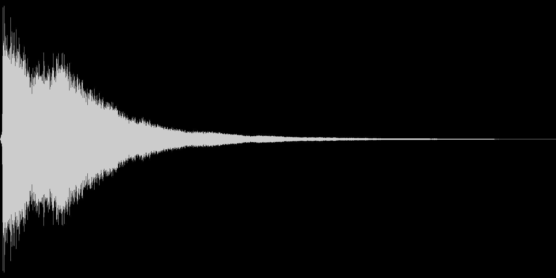 チャーン。ご臨終・しらける音(高め)の未再生の波形