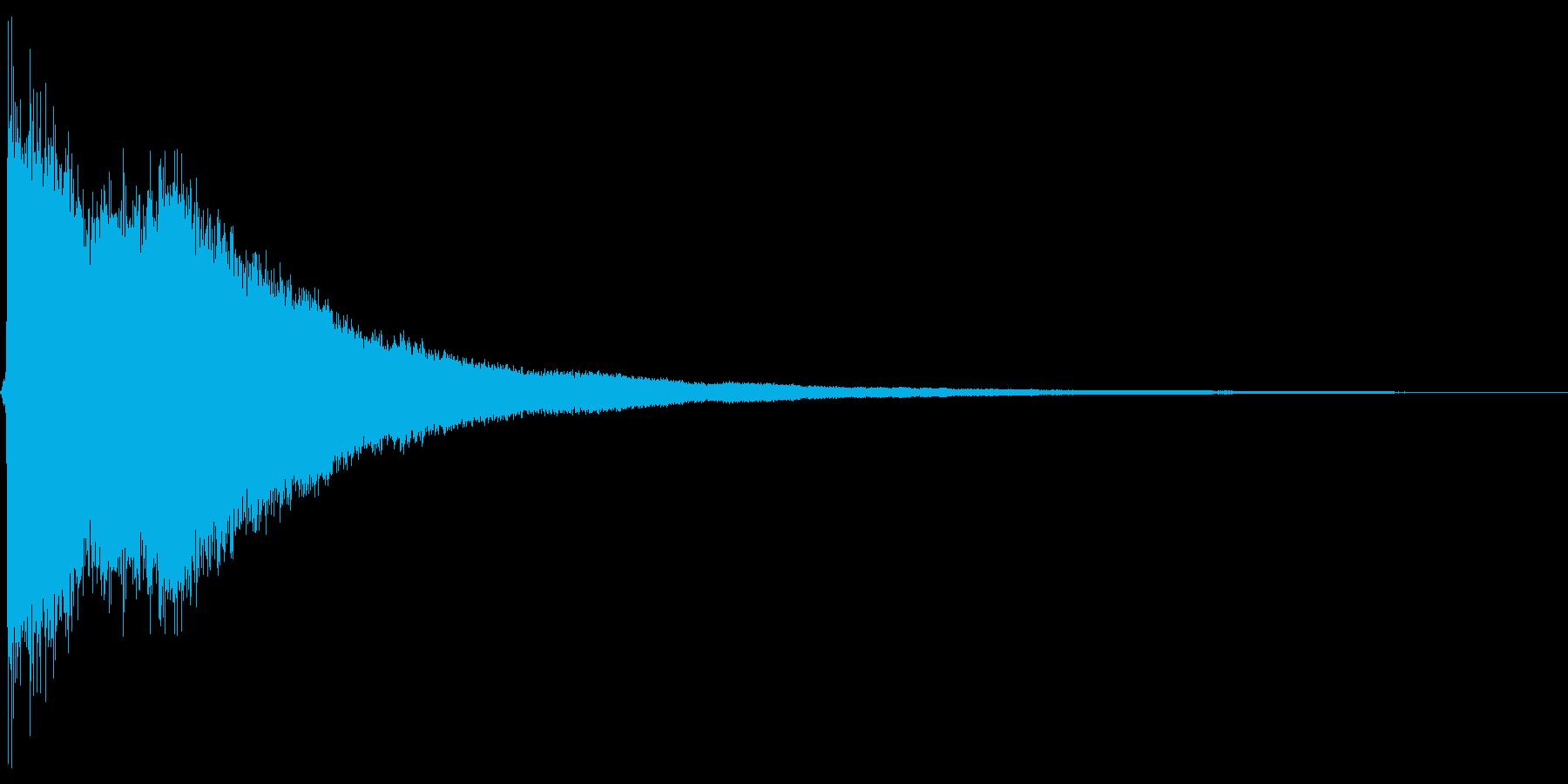 チャーン。ご臨終・しらける音(高め)の再生済みの波形