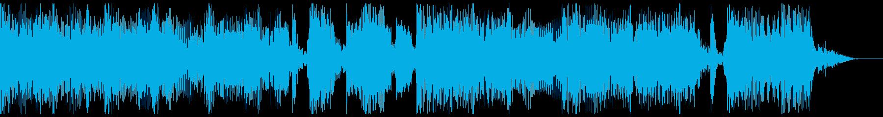 セミアコギターを用いたジャジーなBGMの再生済みの波形