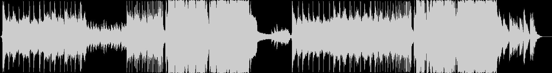 冷たい感じのエピックEDM調BGMの未再生の波形